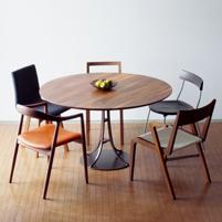 円形テーブル ウォールナット 宮崎椅子