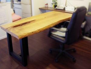 栗 一枚板 テーブル